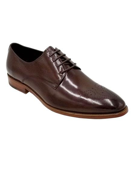 Brown Unique Dress Shoe
