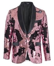 ID#KA29616 Buy Mens Sequin Blazer Fashion Designer Cheap Priced Rose Gold ~ Blush ~ Pink
