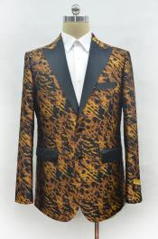 Leopard Peak Lapel Cheap