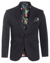 Slim Fit Blazer Black