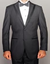 Lapel Black Tuxedo In