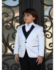 Notch Lapel White Jacket