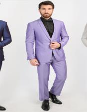 Breasted Purple Shawl Lapel