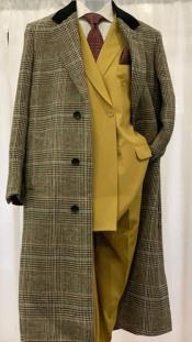 Checkered Chesterfield Overcoat Top