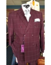 Six Button Burgundy Double