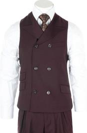 Double Breasted Set Vest
