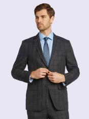 Suit-Gray Windowpane Bertolini Silk