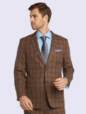 Sand Windowpane Bertolini Silk