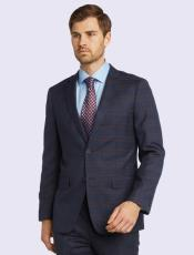 Suit-Blue Plaid Bertolini Silk