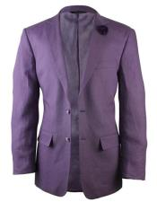 purple suit Linen Blazer