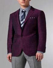 black and purple suit