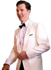 Cumberbatch White Dinner Suit