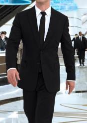 in Black Suit Shirt
