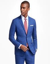 ID#KA29960 Milano Notch lapels Men's two buttons Slim fit Suit In Blue