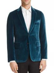 Blue Velvet Blazer Sportcoat