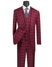 Plaid Suit 3 Piece