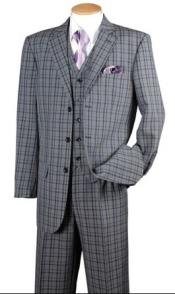 Mens Navy Plaid 1920s