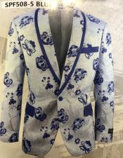 and Navy blue paisley