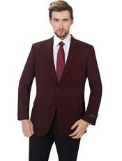 ID#KA30052 Mens Classic Fit Sport Coat Suit Jacket Blazer Burgundy