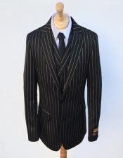 Breasted Suit Black ~