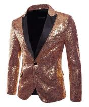 Sequins Pattern Rose Gold