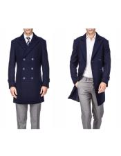 Wool Peacoat Three Quarter