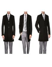 Mens Car Coat Wool