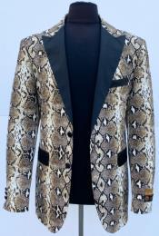 ID#KA30686 Exotic Skin Python Sport Jacket Blazer Alligator ~ Crocodile ~ Snakeskin Coat Snake Skin
