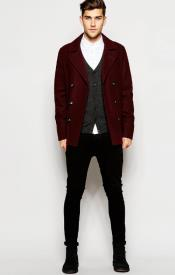 Six Button Burgundy ~