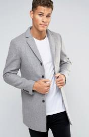 Lapel Wine Wool Coat