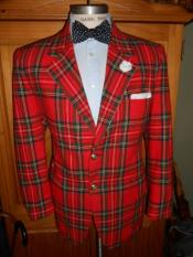 One Button Shawl Lapel Fully Lined Tartan Suit