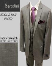 Wool/Silk Light Grey Solid