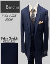 Blue Solid Bertolini Vested