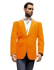mens Blazer Jacket Orange