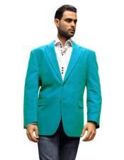 Mens Blazer Jacket turquoise
