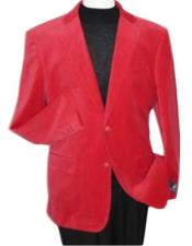new Red Velour Jacket