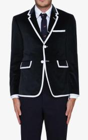 ID#KA30836 Black Classic velour Mens Blazer Jacket