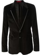 Mens Blazer Jacket Black