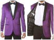 Velvet Slim Fit Purple