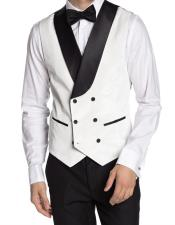 Breasted Velvet Mens Vest