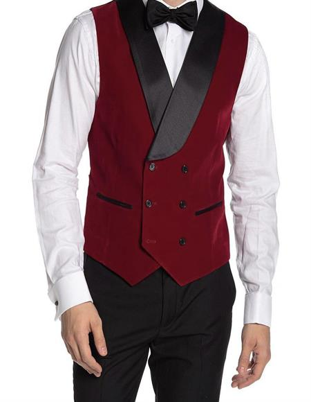 Double Breasted Velvet Mens