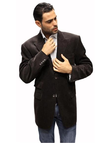 Mens Blazer Jacket Brown