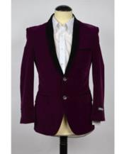 velour Blazer Jacket Purple