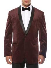 1 Button Burgundy ~