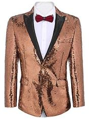Gold ~ Pinkish Sequin
