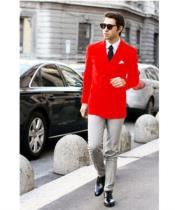 Red Stylish Casual Tailored