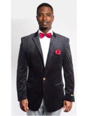 Black Fashion Peak Lapel
