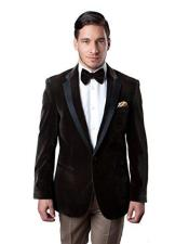 Brown Velvet velour Mens