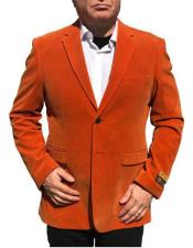 Nardoni Brand Orange Velvet
