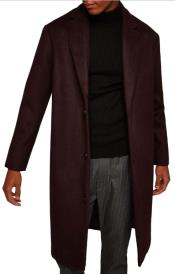 ID#KA31128 Mens Burgundy ~ Wine ~ Maroon Overcoats